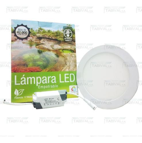 lampara led 12w (empotrable)