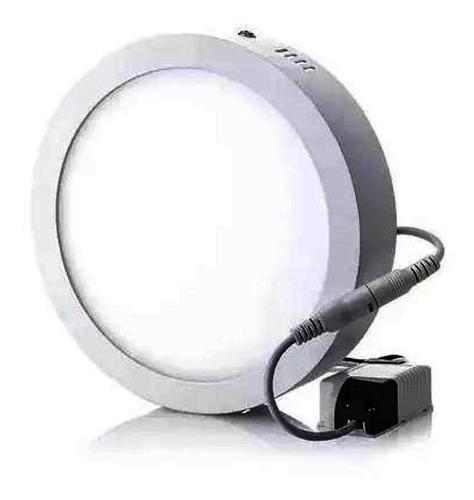 lampara led 12w luz blanca borde blanco superficial