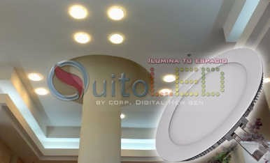 lampara led 18w-  led gypsum blanca -calida - quitoled