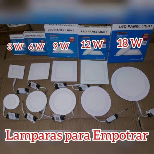 lampara led 18w panel redondo superficial sobreponer oferta