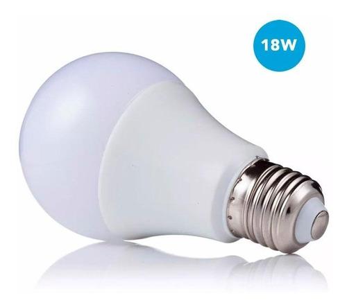 lampara led 220v 18w equivalente 125w e27 6500k luz fria cal
