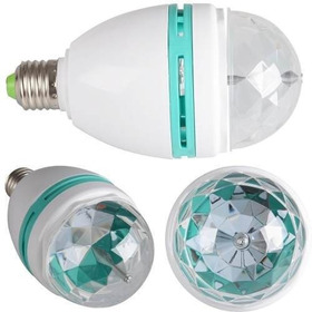 Lampara Led 220v Color Rgb Giratoria Luces Efectos Fiestas