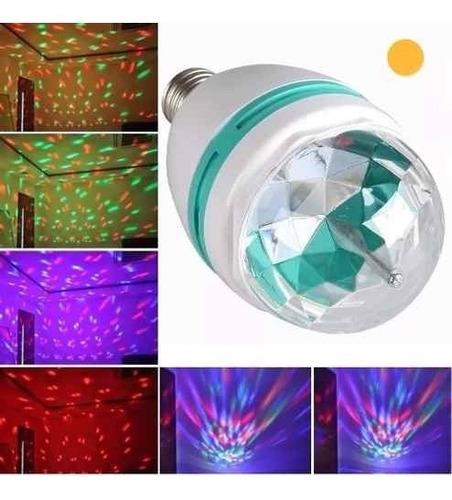 lampara led 220v color rgb giratoria luces efectos fiestas