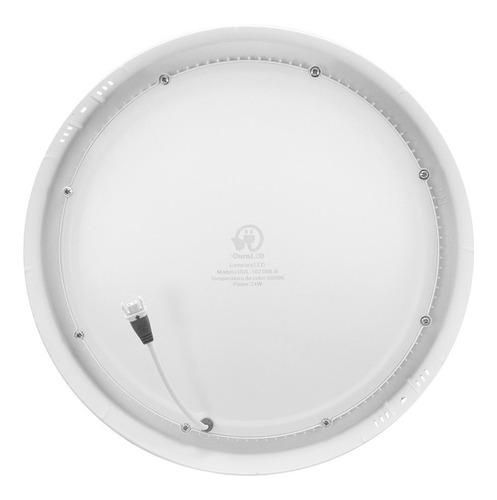 lampara led 24w luz blanca borde blanco dul-1021bb-s duraled