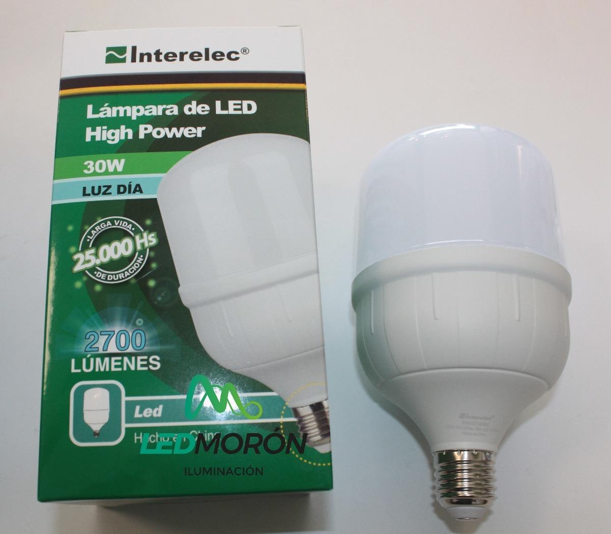 Día Luz Lampara 30w Interelec Power80w E27 High Led uTOkXZPi