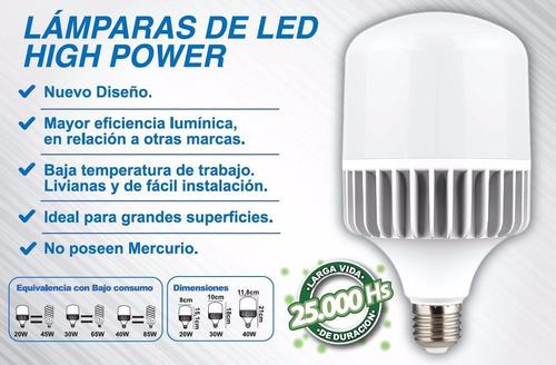 lampara led 30w luz dia e27 interelec high power 2700 lumen