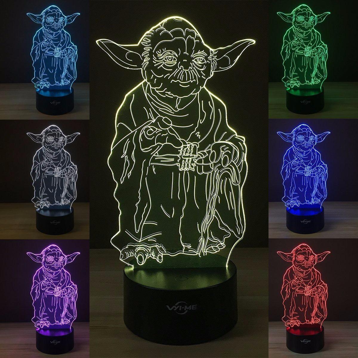 Led Wars Mesa Star Dd Holograma Lampara 3d Yoda 140 Ilusion 0wO8nPNkX