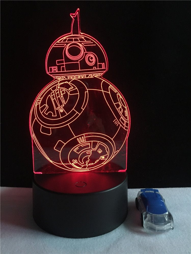 8 Led Bb Wars Lampara 3d Star lFcK1TJ