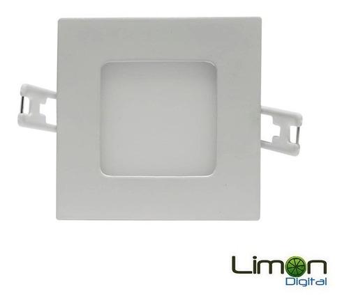 lampara led 3w cuadrada empotrable ultra plana ojo de buey