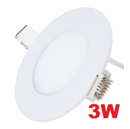 lampara led 3w redonda para empotrar x3unidades tienda *