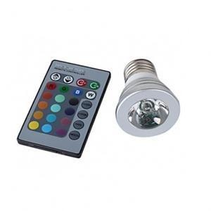 lampara led  3w rgb  e27 con control f96