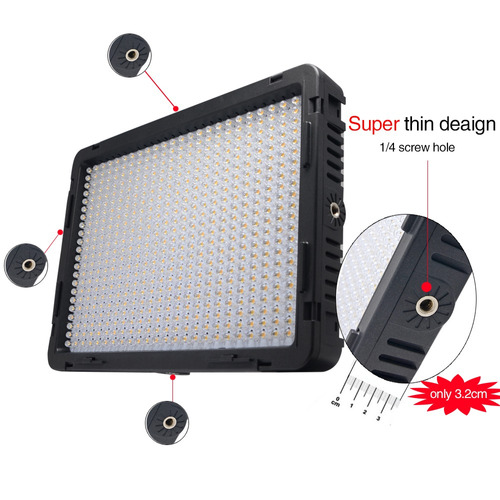lampara led 530 leds para video y camaras