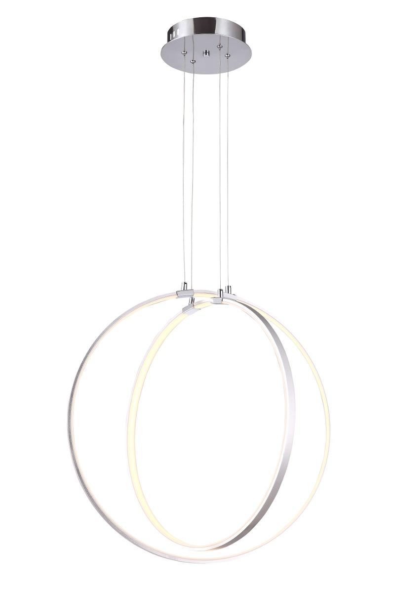 Led Doble Pantalla Colgante Circular Lámpara 54w Satinado kXOiPZuT