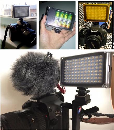 lampara led 96 video fotos dsrl canon sony minolta celular