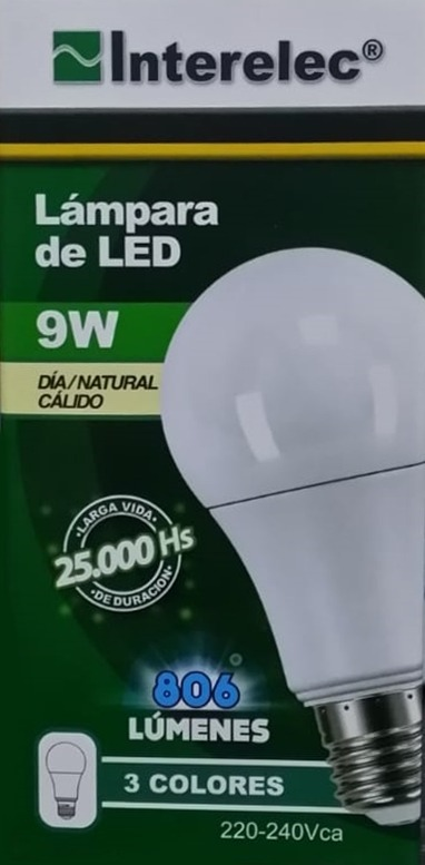 Calida Interelec 9w Natural Frio Lampara Led Cambia IbYvm76fgy