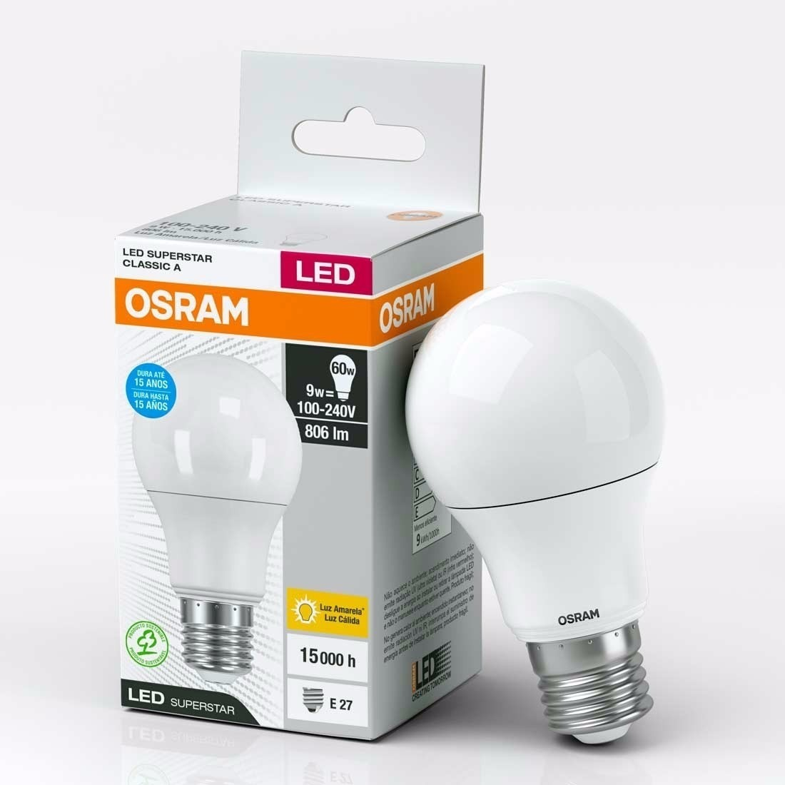 5 Superstar Classic Osram Calidadia Lampara Led Pack 9w A EHDeY9IW2