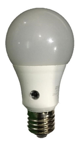 lampara led a60 10w con fotocelula interelec
