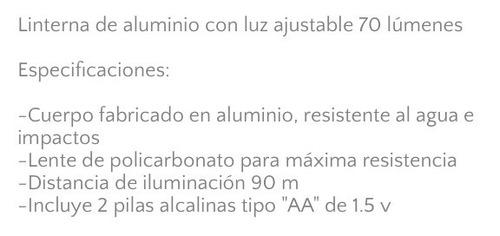 lampara led aluminio resistente agua luz ajustable camp e4f