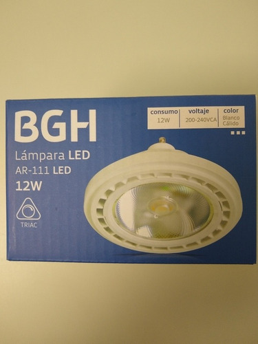 lampara led ar111 12w dimerizable 220v gu10 calida bgh