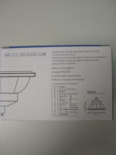 lampara led ar111 12w dimerizable 220v gu10 calida bgh x 5un