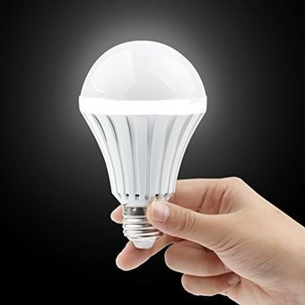 lampara led autonoma 9w luz emergencia recargable e27 rosca comun - lanús