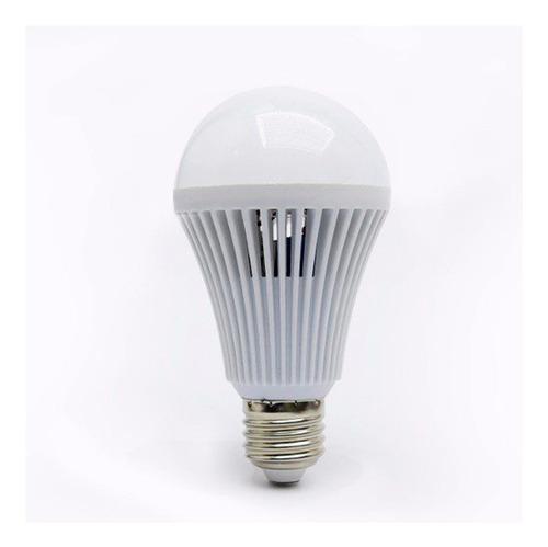 lampara led autonoma luz emergencia 9w 10w e27 frio calido
