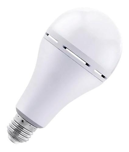 lampara led autónoma pack x 4 emergencia 10w e27 frio calido