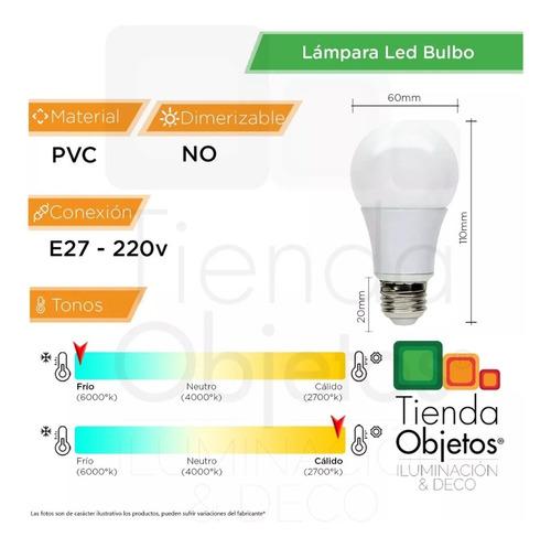 lampara led bulbo 12w 13w = 100w 1300lm oferta calida fria