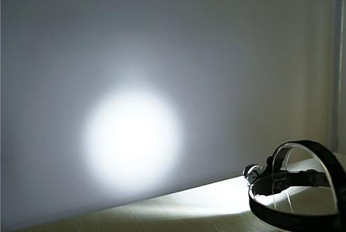 lampara led cabeza 18 leds ajustable minero campismo caza