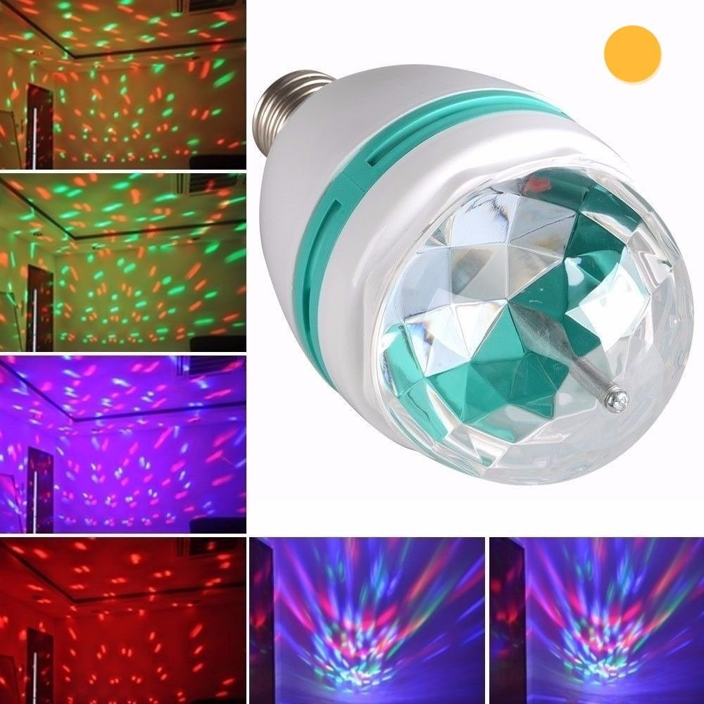 Color Led Dj Rgb Giratoria Luces Efectos Fiestas Lampara 7b6vYgyf