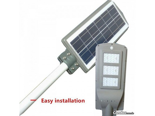 lampara led con panel solar y sensor de movimiento de 60w