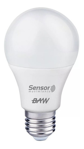 lámpara led con sensor de movimiento fotocelula baw 13w
