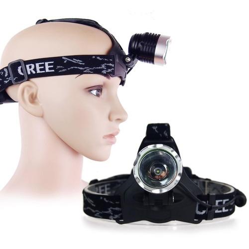 lampara led cree t6 para cabeza casco mtb bicicleta 1800 lm