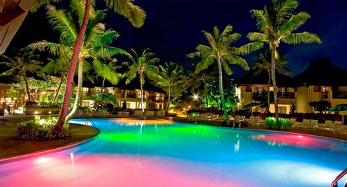 lampara led de piscina multicolor