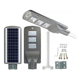Lampara Led De Poste Con Panel Solar Recargables 60w Radar