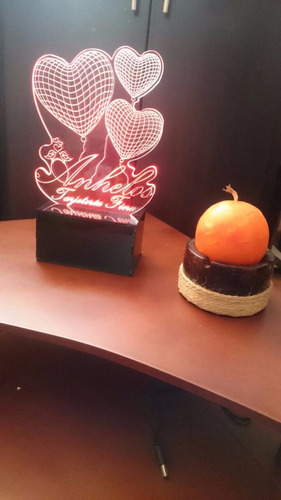 lámpara led decorativa 2d 3d anhelos diseños personalizados