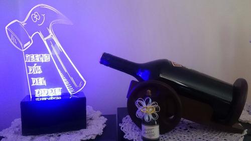 lámpara led decorativa 2d 3d dia padre diseños personalizabl