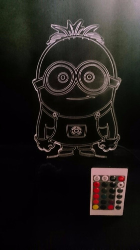 lámpara led decorativa 2d 3d minion diseños personalizables
