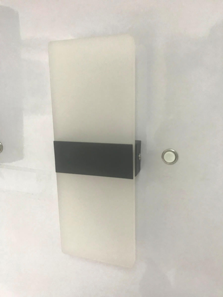 lampara led decorativa de pared exterior luz blanca vidrio - Lamparas De Pared