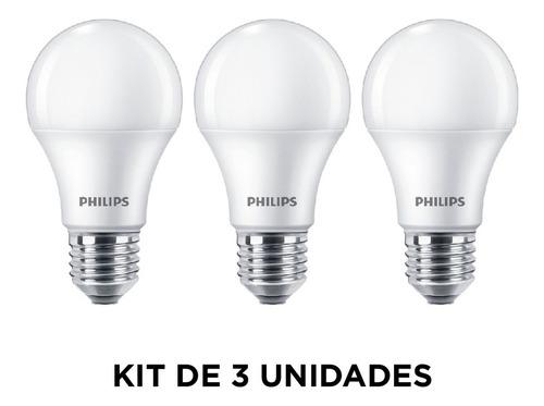 lámpara led ecohome tipo bulbo e27, 10w/cálida - philips l27