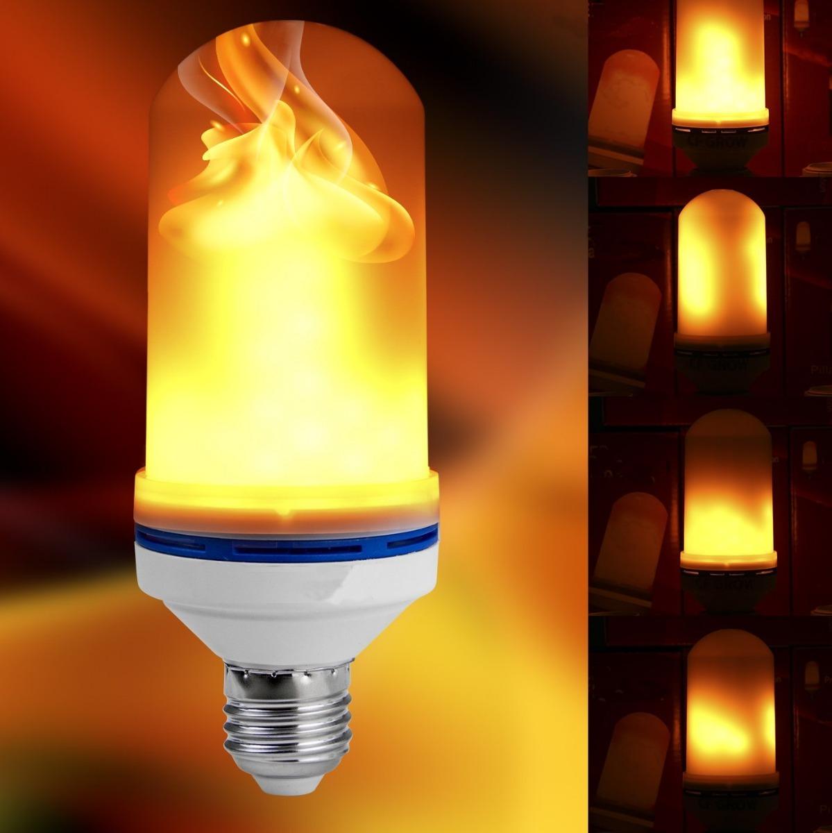 310681dce31 Lámpara Led Efecto Fuego. La Original. 3 Modos. -   460