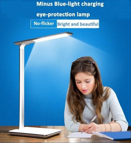 lampara led escritorio cargador qi iphone recargable