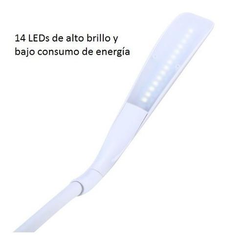 lámpara led escritorio recargable flexible táctil regulable