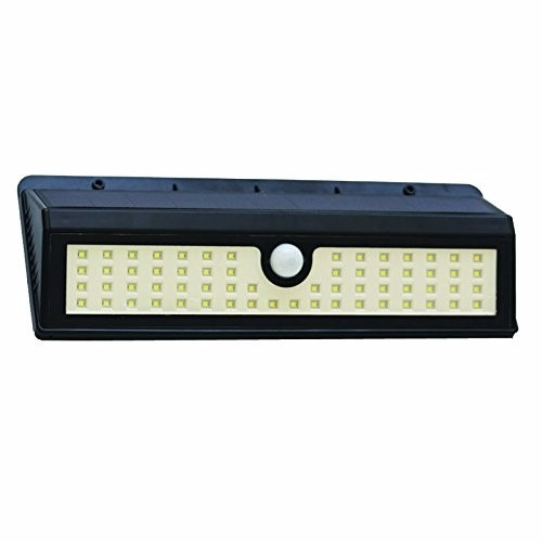 lampara led externa sensor de mov panel solar 62 led 1600lm