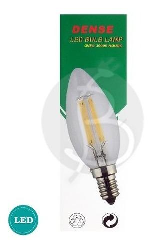lampara led filamento vintage vela 4w e14 con garantía