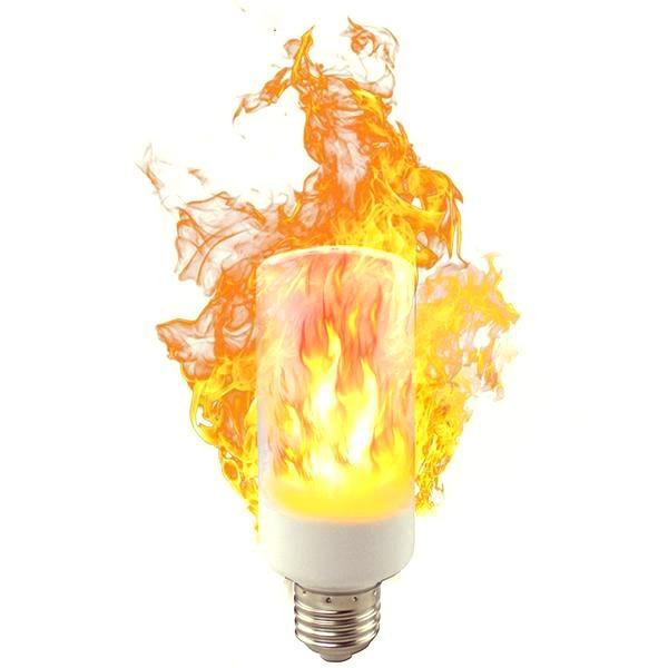 c016130c21a Lampara Led Fuego Antorcha Llama 3 Efectos 4w E27 220v -   349