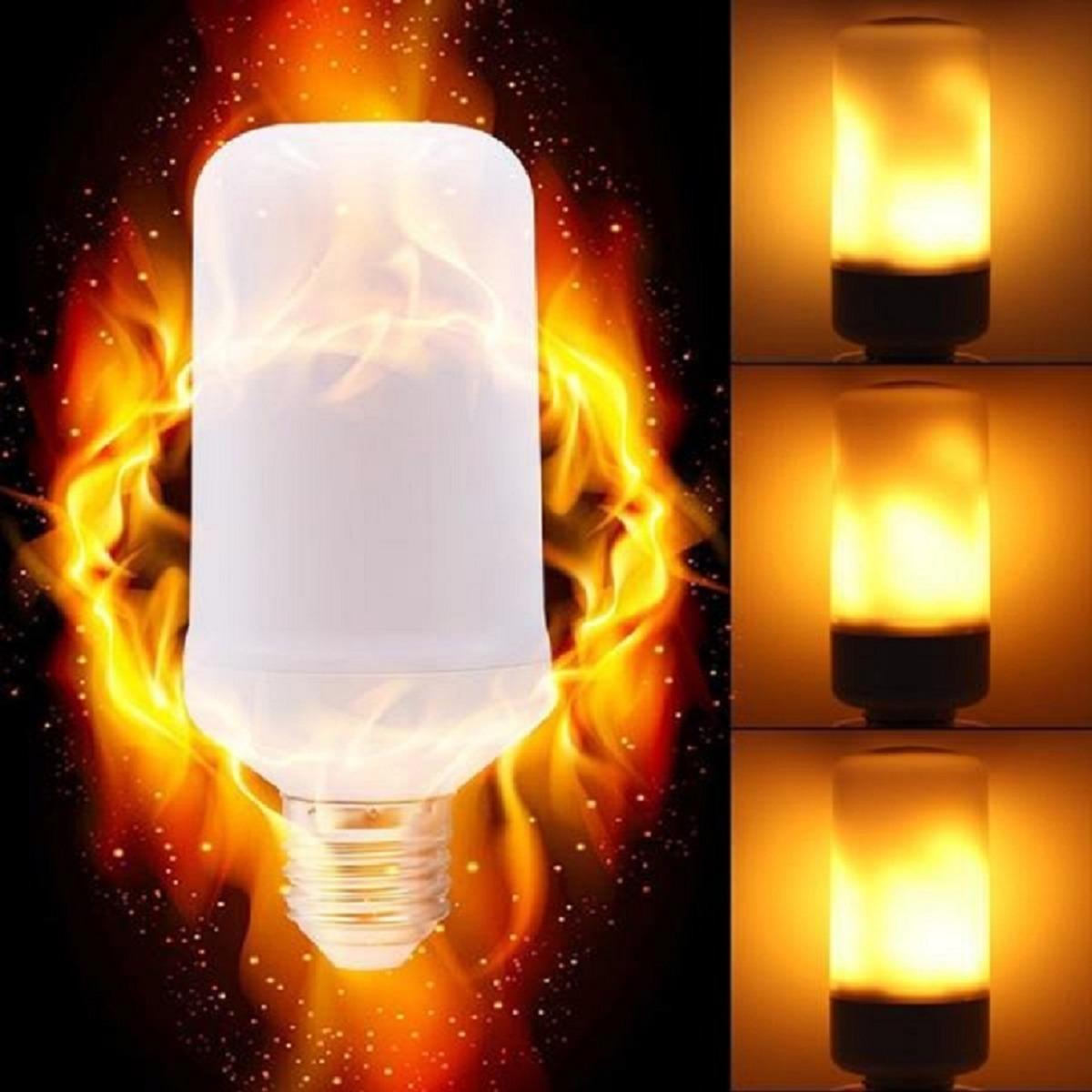 d5acba70d29 Lampara Led Fuego Antorcha Llama 3 Efectos 4w E27 220v -   280