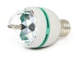 lampara led giratoria 3 colores rgb bolichera foco led