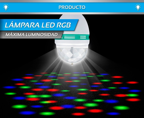 lampara led giratoria colores audioritmica n2m