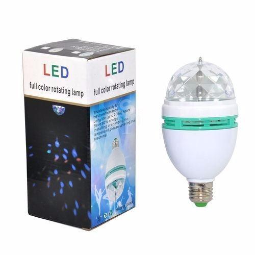 lámpara led giratoria rgb o 1 color bola giratoria, luces dj